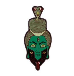 Shiva Kali Fridge Magnet Snake Third Eye Magnet Pin