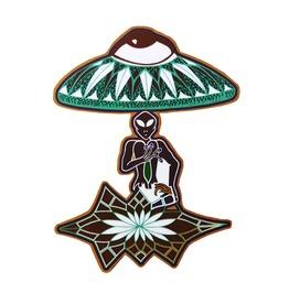 Alien On Mushroom Magnet Ufo Alien Magnet