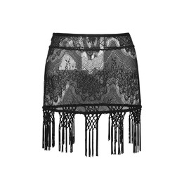 Punk Rave Women's Gothic Floral Tassels Lace Mini Skirts Q255