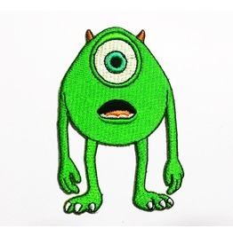 Mike Wazowski In Monster Inc Embroidered Iron On Patch.