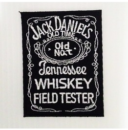 Embroidered Jack Daniel's Whiskey Iron On Patch.