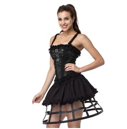 Gothic Black Cage Hoop Skirt