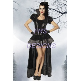 Deluxe Velvet Evil Wicked Queen Vampire Halloween Costume Snow White S M L