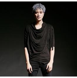 Korean Fashion Mens Black Slim Hooded Tshirts