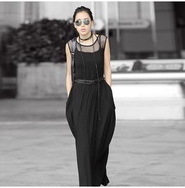 Punk Rave Women's Casual Sleeveless Maxi Dress Pq016