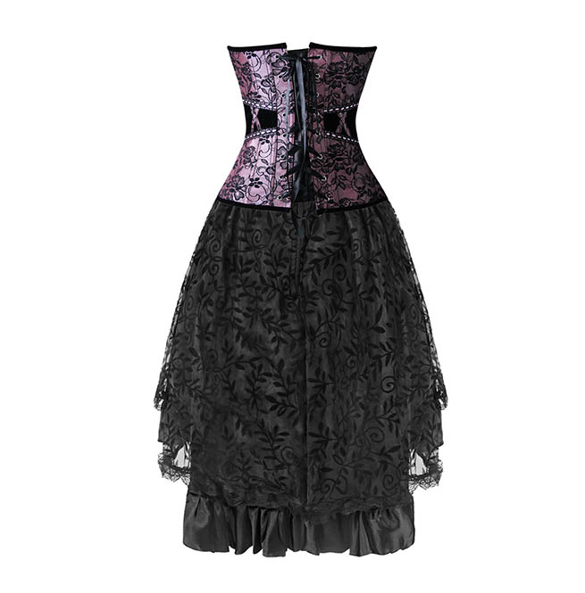 rebelsmarket_womens_gothic_overbust_corset_dovetail_dress_floral_with_lace_trimmed_mesh_bustiers_and_corsets_3.jpg