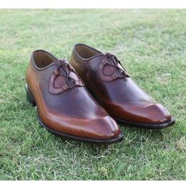 Handmade Men Antique Brown Formal Shoes, Men Brown Dress Shoes, Men Shoes