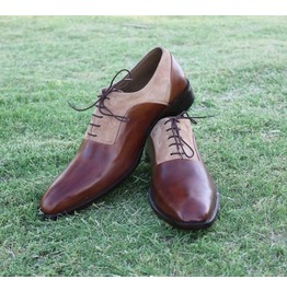 Handmade Men Two Toned Formal Shoes, Men Brown Dress Shoes, Men Shoes