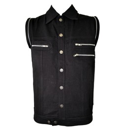 Men Poizen Industries Vest Gothic Black Goth Emo Punk Shirt Vest