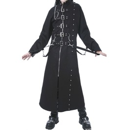 Men Dead Threads Hellraiser Jacket Gothic Long Coat Zip Studs Men Punk Coat