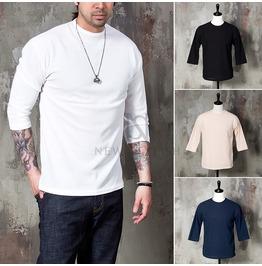 Basic Cotton Elbow T Shirts 723