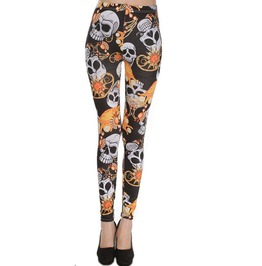 Harajuku Skull Printed Women Leggings
