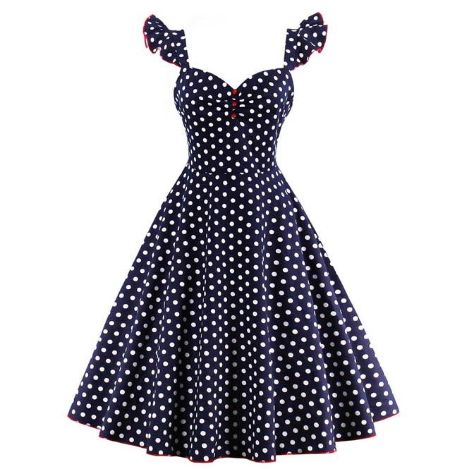Women\'s Pin Up Rockabilly Polka Dot Dress Plus Size | RebelsMarket