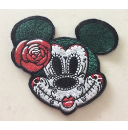 Embroidered Sugar Skull Minni Mouse Patch Iron/Sew On 2 Sizes Available