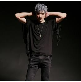 Korean Mens Mod Avant Garde Tassel Short Sleeved T Shirts