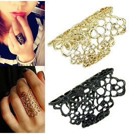 Bohemian Victorian Gothic Retro Punk Filigree Lace Floral Style Ring
