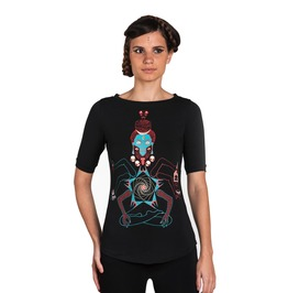 Shiva Kali Graphic Women's Tee Skull Occult Indian Art Top