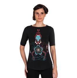 Shiva Kali Graphic Women's Tee Skull Occult Indian Art Top