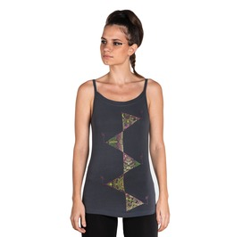 Graphic Spaghetti Top Elements Of Nature Tank Top