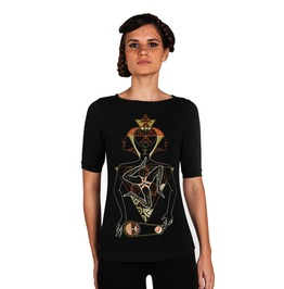 Visionary Art All Seeing Eye Women's T Shirt Past Present Future Top