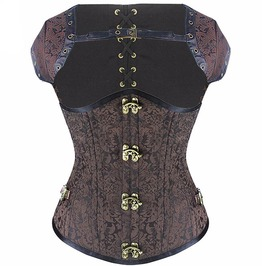 Steampunk Steel Boned Underbust Corset With Bolero