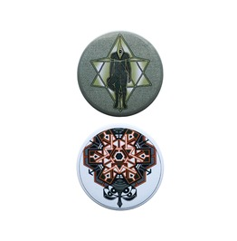 Third Eye Merkaba,Sacred Geometry Set Of 2 Pin Badges,Trippy Pins