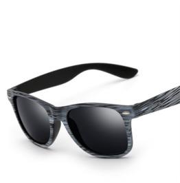 Stylish Wood Color Black White Unisex Sunglasses Glasses