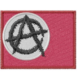 Embroidered Anarchy Flag Patch Iron/Sew On