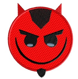 Embroidered Devil Satan Emoji Patch Iron/Sew On
