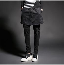 Korean Fashion Men's Skinny Skirt Pants
