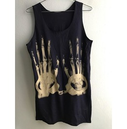 X Ray Finger Handcuff Cool Art Street Wear Fashion Tank Top