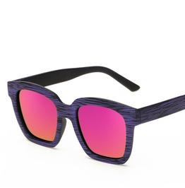 Retro Tainted Glasses Wood Purple