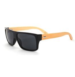 Stylish Men's Sunglasses Wood Color Black