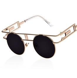Steampunk Metal Sunglasses Gold Rim Unisex