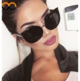 Cat Eye Audrey Black Light Pink Sunglasses Women's