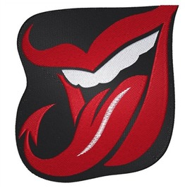 Embroidered Devil Tongue Iron/Sew On Patch