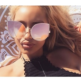 Oversized Light Pink Sunglasses Women's