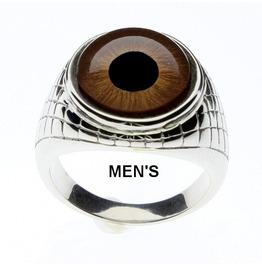 Brown Eye Ring | Brown Glass Eye Ring | Unisex Ring | Men's Ring| Human Eye