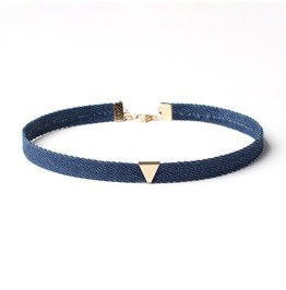 Cute Denim Choker Women's