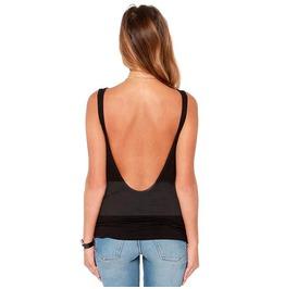 New Summer Womens Sleeveless Black Gray Backless Tank Top Shirt Cotton