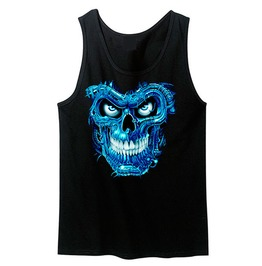 Liquid Blue Terminator Skull Unisex Tank Top For Men And Women