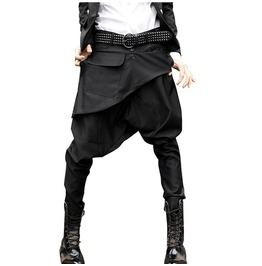 Asymmetric Harem Pants Goth Men's Botton