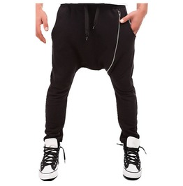 Men's Jogger Harem Sweatpants Black Grey Pants
