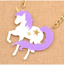 Unicorn Necklace / Collar Unicornio Wh355