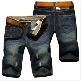 Mens Trousers Comfy Fitting Denim & Cotton Jean Summer Shorts Hot Sale