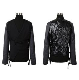 New Arrival Runway Fashion Men's Slim Fit Coats Blazers Tops