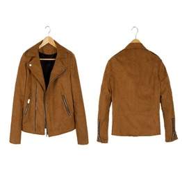Autumn/Winter Fashion Mens Suede Leather Zip Up Short Casual Jacket
