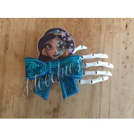 Princess Skeleton Hair Clip