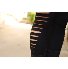 Yoga Leggings, Cut Out Black Leggings, Festival Clothing