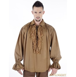 Brown Vintage Steampunk Blouse For Men C080016 Cf